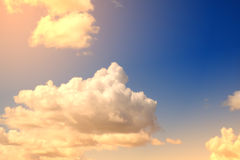 Artistic soft cloud and sky with pastel gradient color filter stock photo