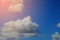 Artistic soft cloud and sky with pastel gradient color filter stock photos