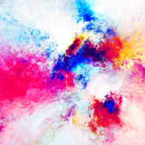 Artistic splashes of bright paints. Abstract color pattern. Fractal artwork for creative graphic design Stock Images