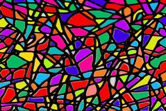 Artistic Stained Glass Window Illustration Royalty Free Stock Photography