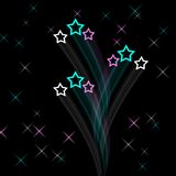 Artistic star field. Background for design Stock Photography