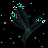 Artistic star field background. For design Royalty Free Stock Images