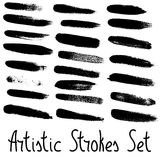 Artistic strokes set. Stock Photos
