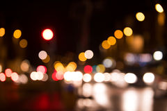 Artistic style - Defocused, blurred urban abstract traffic background Stock Photo
