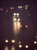 Artistic style - Defocused, blurred urban abstract traffic background Royalty Free Stock Images