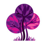 Artistic stylized natural design symbol, creative tree illustrat Royalty Free Stock Photography