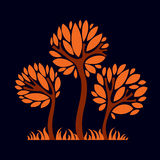 Artistic stylized natural design symbol, creative tree Royalty Free Stock Image