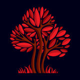 Artistic stylized natural design symbol, creative tree Stock Photography