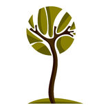 Artistic stylized natural design symbol, creative tree Stock Images