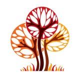 Artistic stylized natural design symbol, tree illustration Stock Photo