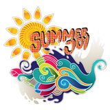 Artistic summer banner. With abstract shapes Stock Images