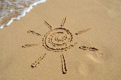Artistic sun on the beach Royalty Free Stock Photo