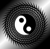 Artistic tao on background in grey tones. Image representing a colorful amazing tao. An idea that can be used in all project about Asia, spirituality or taoism Stock Image