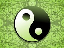 Artistic tao on floral background. Image representing a colorful amazing tao Royalty Free Stock Photo