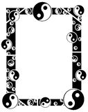 Artistic tao frame in black and white  Stock Image