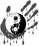 Artistic tao with drops and hand isolated. Image representing a colorful amazing tao on an haand Vector Illustration