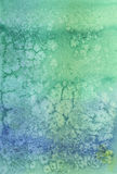 Green blue artistic watercolored background Royalty Free Stock Photography