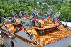 Artistic temple roof Stock Photos