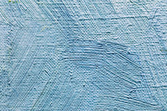 Artistic textured canvas background with expressive blue brushst Stock Photography