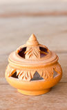 Artistic Thai Earthenware. Royalty Free Stock Photography