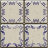 Artistic tile. Computer generated illustration of old bathroom tile Royalty Free Stock Photos