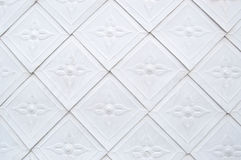 Artistic tile a pattern white Royalty Free Stock Photography