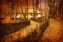 Artistic toned picture in retro style, autumn Royalty Free Stock Image