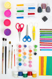 Artistic tools for children and adults Royalty Free Stock Images