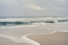 Stormy Day at the Beach royalty free stock photography
