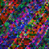 Artistic triangle mosaic bright picture Stock Photo