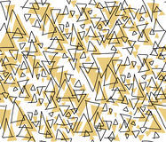 Artistic triangle seamless pattern Royalty Free Stock Photos