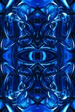 Artistic unique 3d computer generated blue modern futuristic energetic abstract fractals artwork background. Artistic abstract 3d computer generated energetic stock illustration