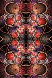 Artistic unique 3d computer generated smooth abstract colorful fractal balls royalty free illustration