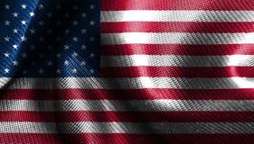 Artistic United States fabric flag, USA waving fabric flag. United states of America flag royalty free illustration
