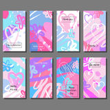 Artistic Valentine`s cards. Design for Flyers, Placards, Posters, Invitations, Brochures. Stock Photography