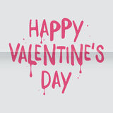 Artistic Valentine`s Day greeting card Royalty Free Stock Photos