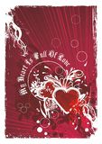 Artistic valentines background illustration Royalty Free Stock Images