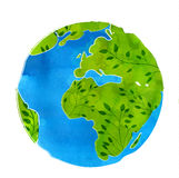 Artistic vector illustration of Earth globe Stock Photo