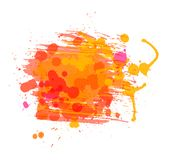 Artistic vector watercolor background of sunny Stock Photo