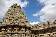 Artistic view of aesthetic temple. Aesthetic architecture of Hoysala empire Stock Photos