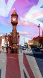 Artistic Vision of Clock Monument in Jewellery Quarter Birmingha Royalty Free Stock Photos