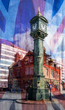 Artistic Vision Clock Monument in Jewellery Quarter Birmingham b Stock Photo