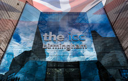 Artistic Vision of ICC Birmingham Entrance with blended British Royalty Free Stock Images