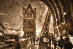 Artistic Vision Of London Tower Bridge in Motion Stock Photography
