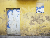 Artistic wall. Decorative detail on a wall in the city of Logroño Royalty Free Stock Image