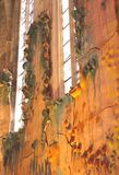 Artistic wall in the famous Cathedral Santa Maria (La Seu), Palma, Mallorca Royalty Free Stock Images