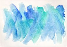 Free Artistic Watercolor Background With Expressive Brush Strokes Stock Image - 145417141