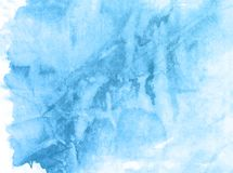 Blue nature hand drawn watercolor background, raster illustration. Artistic watercolor paper paint background. Soft hand drawn texture. Illustration,card royalty free illustration