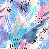Artistic watercolor seamless pattern. Stock Image