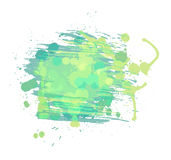 Artistic watercolor vector background. Light green. And blue colors stock illustration